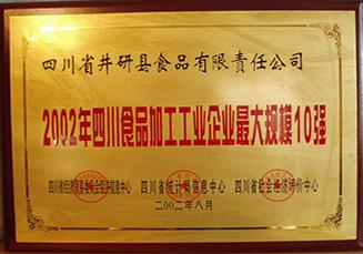 四川食品加工企业最大规模10强